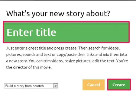 Metta-video creator- create new file