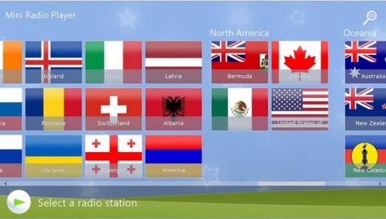 Mini Radio Player - Main Screen