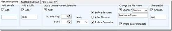Multi Renamer- file renamer-rename menu