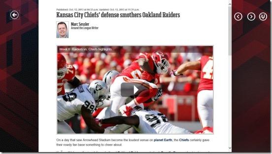 NFL Mobile - news story
