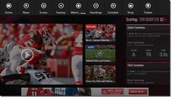 NFL Mobile - video and flyout