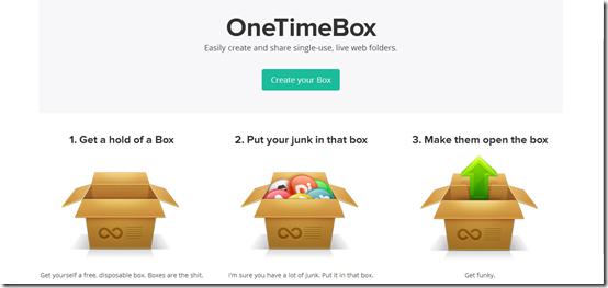 OneTimeBox-online backup-interface