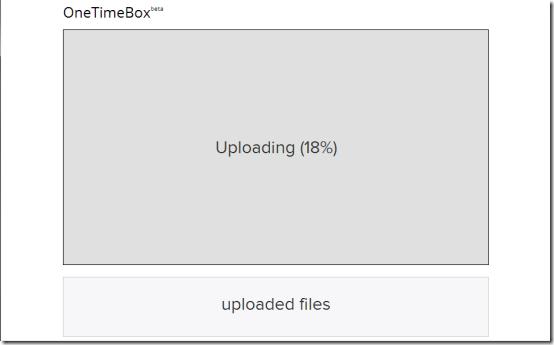 OneTimeBox-online backup- main interface