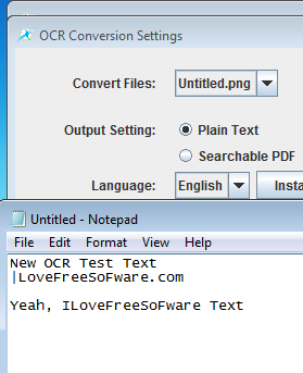 PDF OCR X conversion results