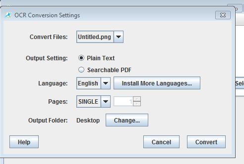 PDF OCR X conversion settings