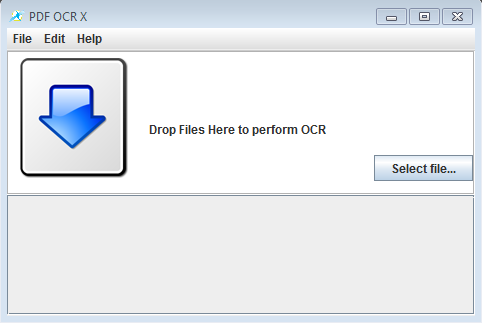 PDF OCR X default window