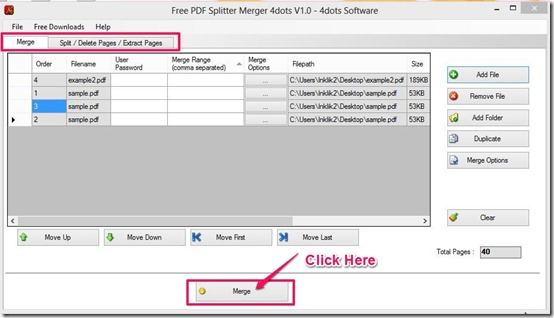PDF Splitter Merger-PDF merger-interface