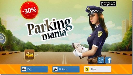 Parking Mania - main screen