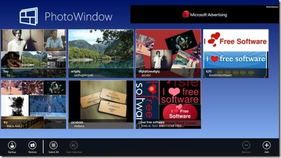 PhotoWindow - main screen