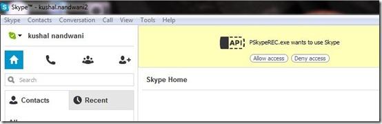 Phrozen Skype REC-record skpe calls-allow access