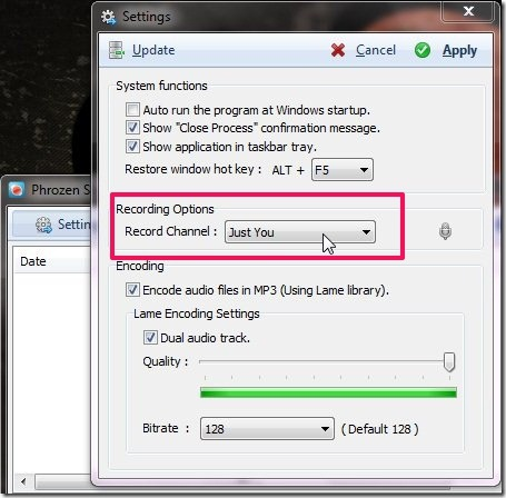 Phrozen Skype REC-record skpe calls-recording options