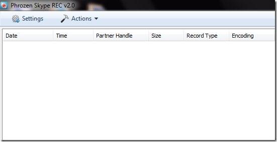 Phrozen Skype REC-record skype calls-interface