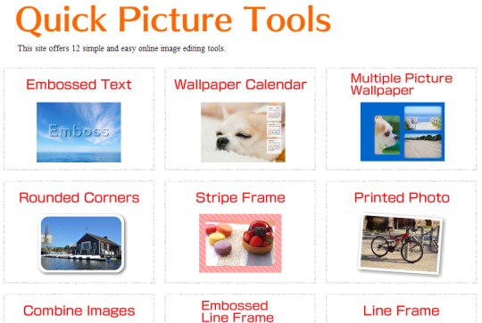 Quick Picture Tools- homepage