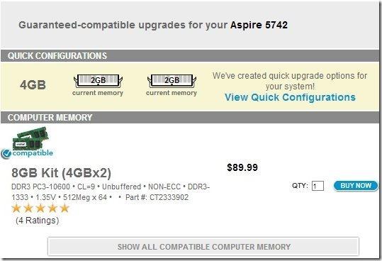 RAM Upgrade