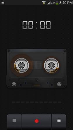 Recorder main screen