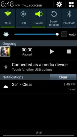 Recorder notification bar