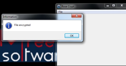Rose Crypt- file encryption software