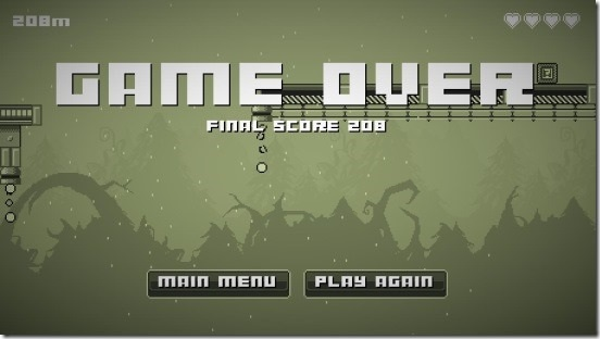 Running Dude - game over