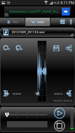 Audio tab