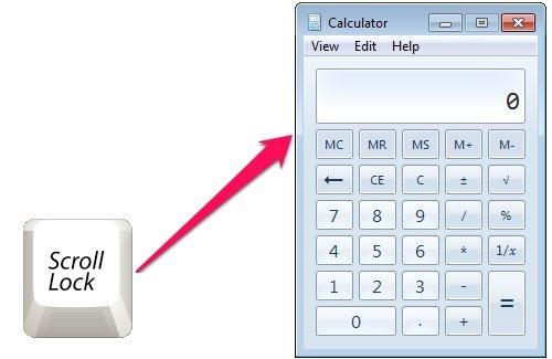 Scroll Lock to Calculator