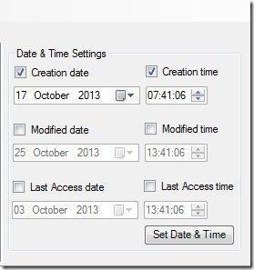 SmartTimeStamp-modify file time-settings panel