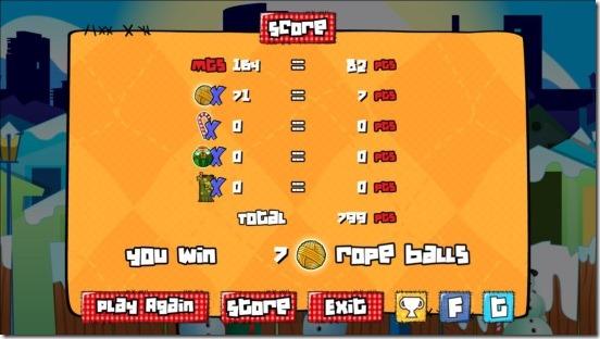 Sock Runner - game results