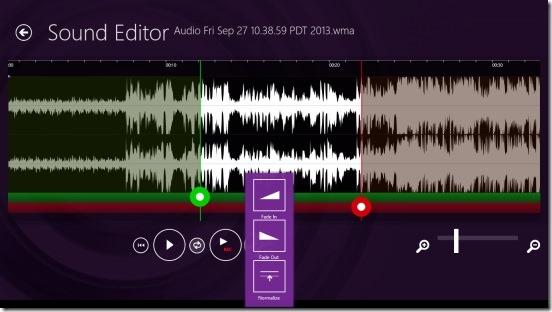 Sound Editor - effects