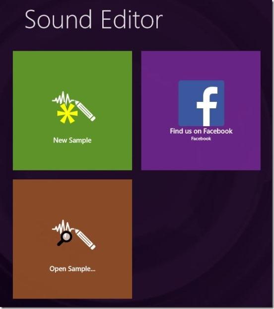 Sound Editor - main screen