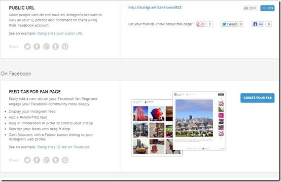 Statigram-instagram client-promote menu