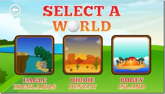 Super Golf Land - worlds