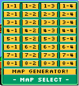 Super Mario Map Select