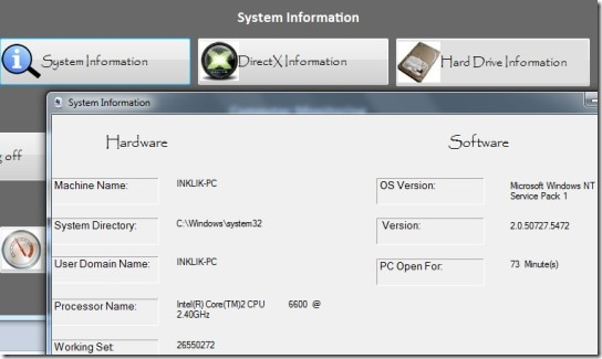 System Solution- view system information