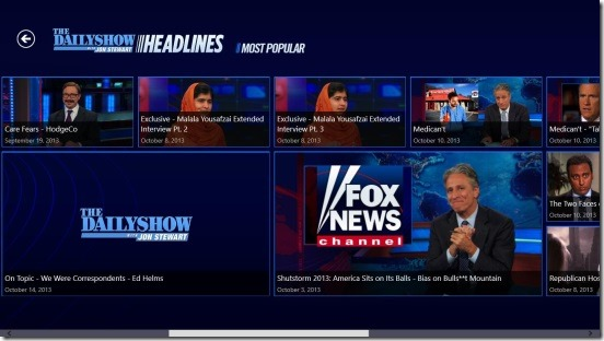 The Daily Show Headlines - most popular category