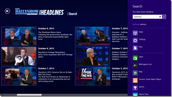 The Daily Show Headlines - search