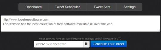 Twitlate.com- schedule tweets
