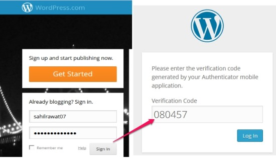 Two Step Authentication in WordPress