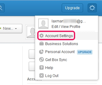 Two step authentication in Box- access account settings