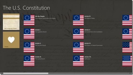 U.S. Constitution - Main Screen
