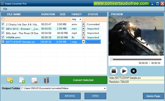 Video Converter Pro- interface