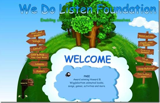 We Do Listen-kids app-home page