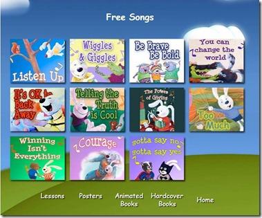 We Do Listen-kids app-songs menu