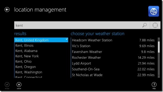 WeatherBug - location management and adding new location