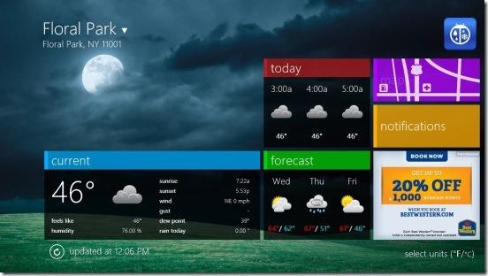 WeatherBug - main screen
