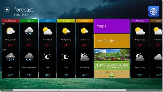 WeatherBug - week forcast