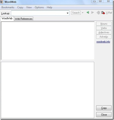 WordWeb-free dictionary-interface
