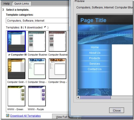 Yahoo! SiteBuilder- templates