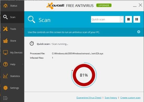 avast! Free Antivirus - Scan