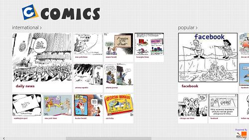 comics main screen