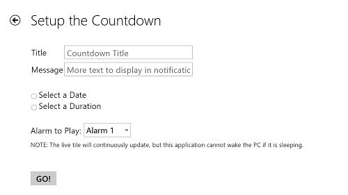 countdown tile