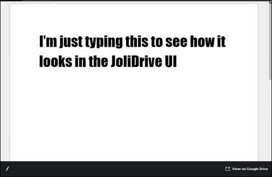 JoliDrive - Reading Doc